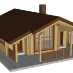 Masivna lesena hiša Petra 3