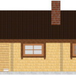 Masivna lesena hiša Petra 8