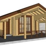 Masivna lesena hiša Petra 14