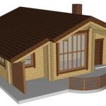 Masivna lesena hiša Romana 1