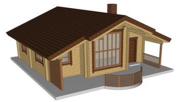 Masivna lesena hiša Romana