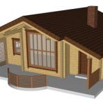 Masivna lesena hiša Romana 3