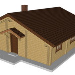Masivna lesena hiša Romana 4