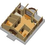 Masivna lesena hiša Romana 10