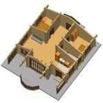 Masivna lesena hiša Romana 12