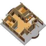 Masivna lesena hiša Romana 13