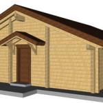 Masivna lesena hiša Romana 16