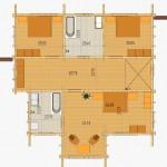 Masivna lesena hiša Sabina 2