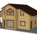 Masivna lesena hiša Sabina 1