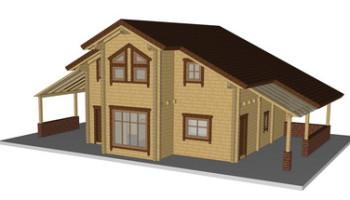 Masivna lesena hiša Sabina