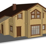 Masivna lesena hiša Sabina 3