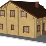 Masivna lesena hiša Sabina 4