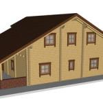 Masivna lesena hiša Sabina 5