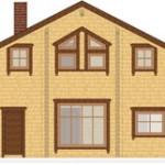 Masivna lesena hiša Sabina 6