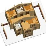 Masivna lesena hiša Sabina 10