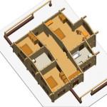 Masivna lesena hiša Sabina 11