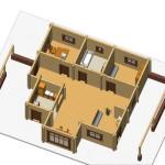 Masivna lesena hiša Sabina 12