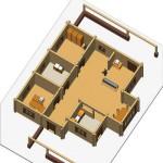 Masivna lesena hiša Sabina 13