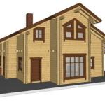 Masivna lesena hiša Sabina 14