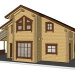 Masivna lesena hiša Sabina 15