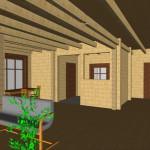 Masivna lesena hiša Sabina 18