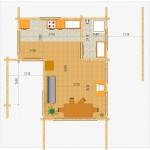 Masivna lesena hiša Silvia 2