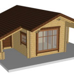 Masivna lesena hiša Silvia 1