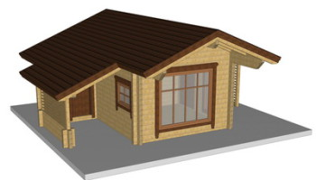 Masivna lesena hiša Silvia