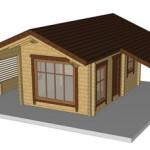Masivna lesena hiša Silvia 3