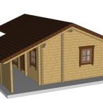 Masivna lesena hiša Silvia 4