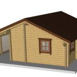 Masivna lesena hiša Silvia 5