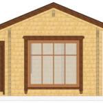 Masivna lesena hiša Silvia 6