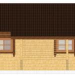 Masivna lesena hiša Silvia 9