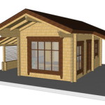 Masivna lesena hiša Silvia 11