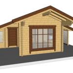 Masivna lesena hiša Silvia 12