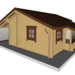 Masivna lesena hiša Silvia 13