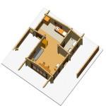 Masivna lesena hiša Silvia 17