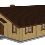 Masivna lesena hiša Tereza 1