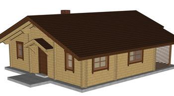 Masivna lesena hiša Tereza