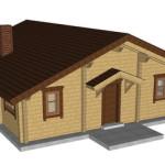 Masivna lesena hiša Tereza 3