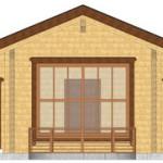 Masivna lesena hiša Tereza 4