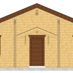 Masivna lesena hiša Tereza 5