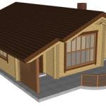 Masivna lesena hiša Tereza 8