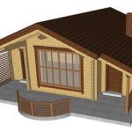 Masivna lesena hiša Tereza 9
