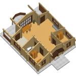 Masivna lesena hiša Tereza 10