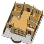 Masivna lesena hiša Tereza 11