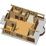 Masivna lesena hiša Tereza 12
