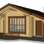 Masivna lesena hiša Tereza 13