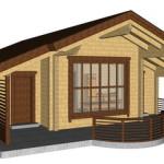 Masivna lesena hiša Tereza 14