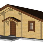 Masivna lesena hiša Tereza 15